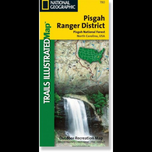 photo: National Geographic Pisgah National Forest Map us south paper map