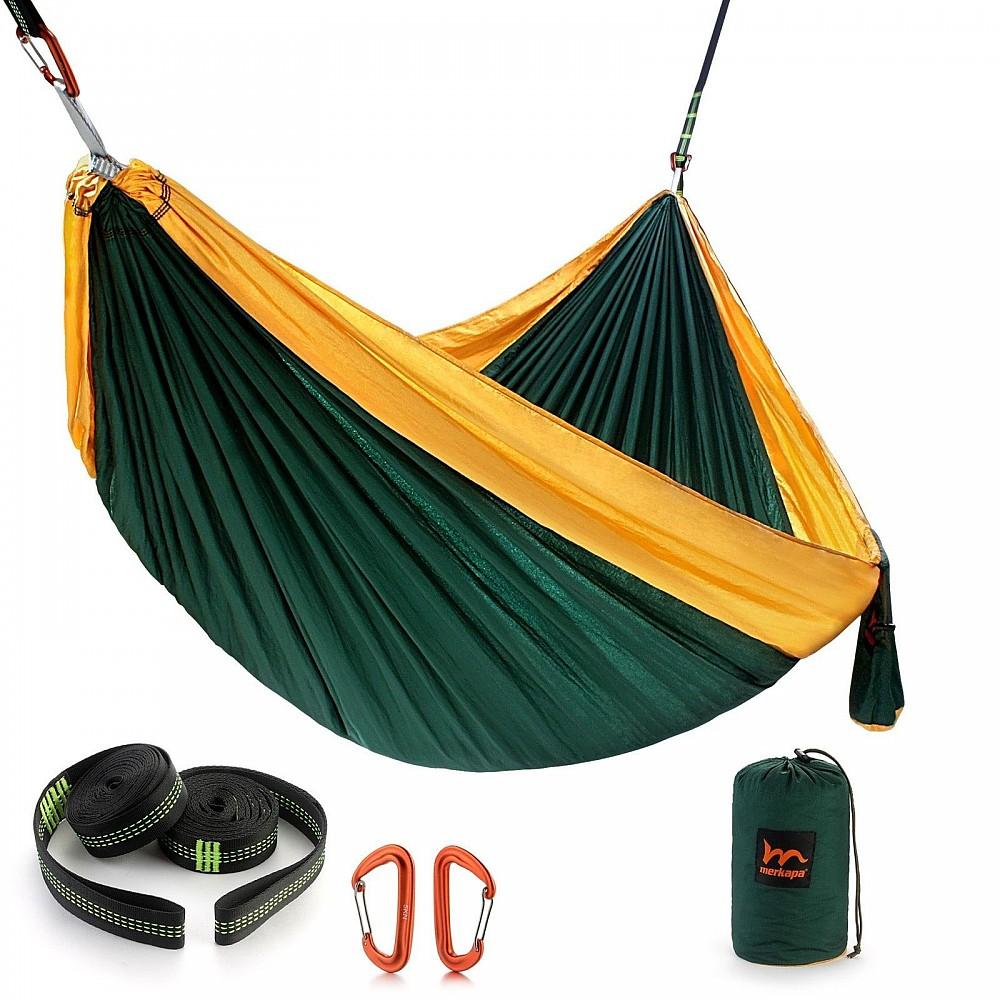 photo:   Merkapa XL Double Parachute Nylon Hammock hammock
