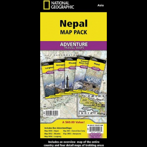 National Geographic Nepal Adventure Map Pack
