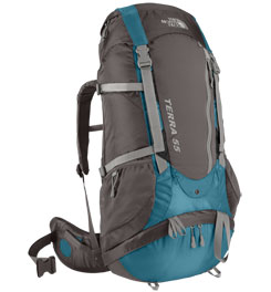 photo: The North Face Tera 55 weekend pack (3,000 - 4,499 cu in)