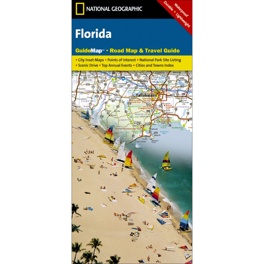photo: National Geographic Florida Map  us south paper map