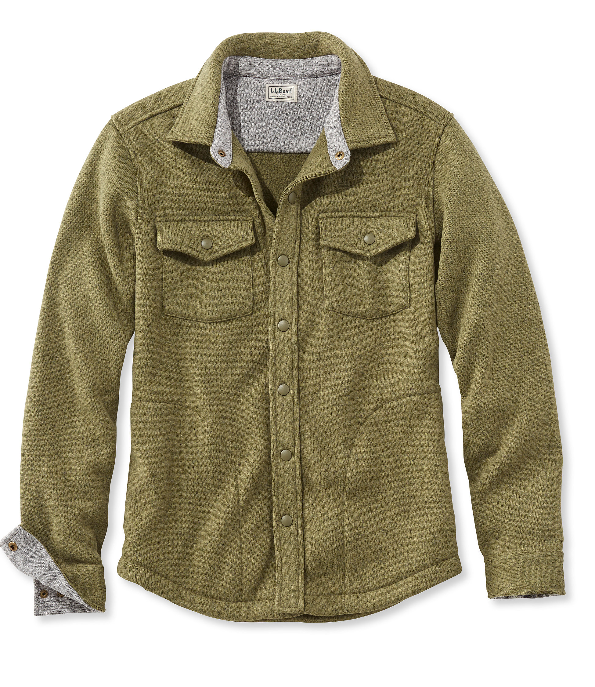 L.L.Bean Sweater Fleece Shirt-Jac