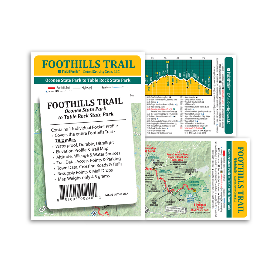 photo: AntiGravityGear Foothills Trail Pocket Profile us south paper map