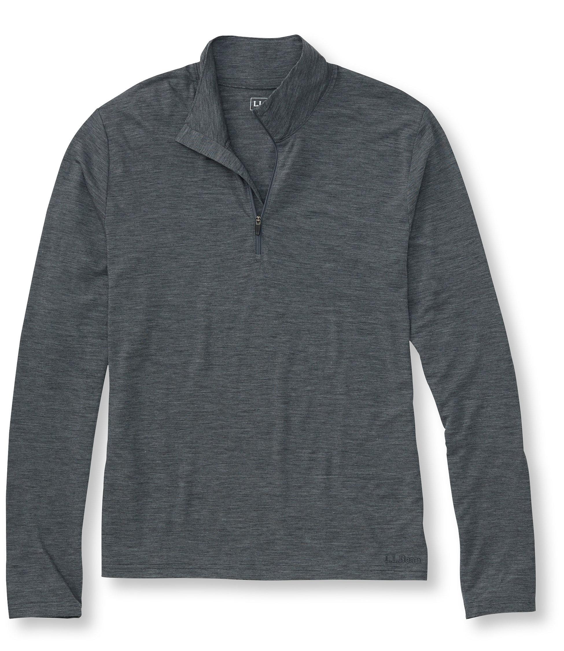 L.L.Bean Primaloft Wool Base Layer, T-Zip