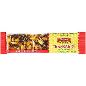 photo:   Mariani Cranberry Honeybar nutrition bar