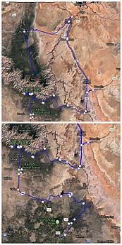 Bike-route-Flagstaff-to-thr-rims-of-the-