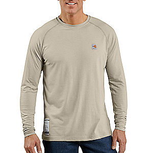 photo: Carhartt Flame-Resistant Work-Dry Long-Sleeve T-Shirt base layer top