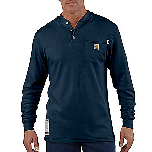 photo: Carhartt Flame-Resistant Long-Sleeve Henley hiking shirt