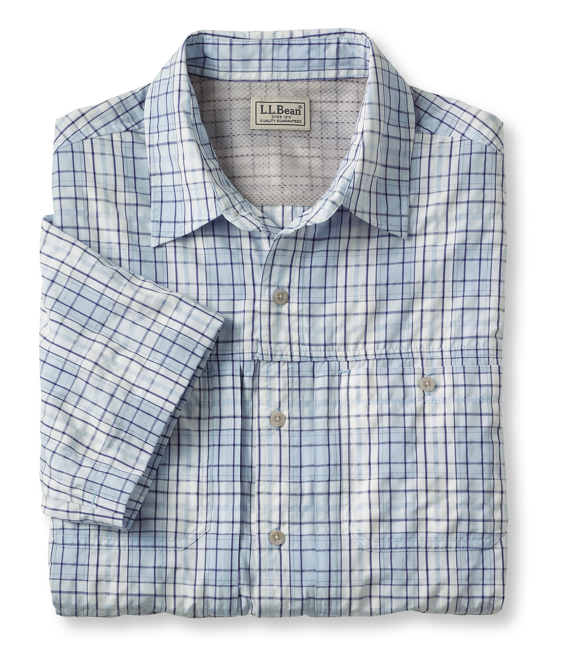 L.L.Bean Cool Weave Trail Shirt, Short-Sleeve Tall