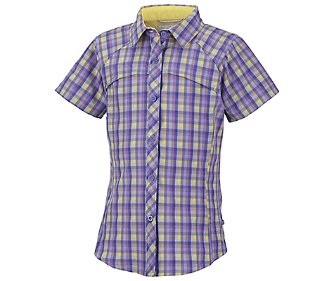 photo: Columbia Girls' Silver Ridge Plaid Short Sleeve Shirt hiking shirt