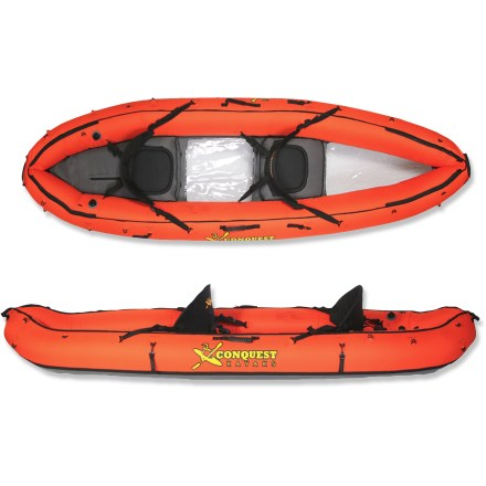 photo of a Conquest Kayaks inflatable kayak
