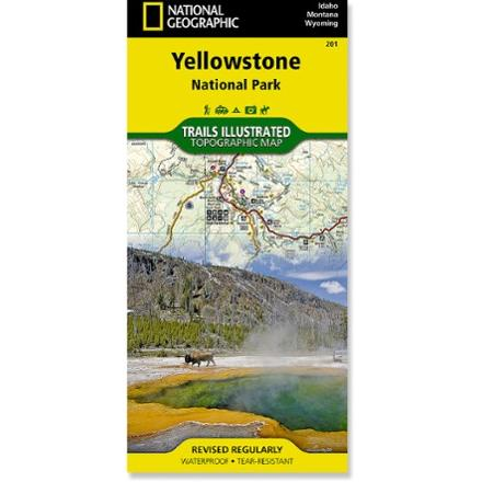 photo: National Geographic Yellowstone National Park Map us mountain states paper map
