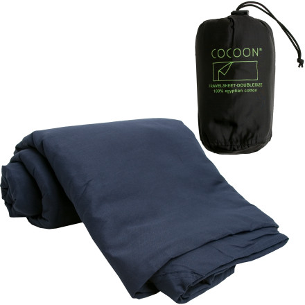 photo: Cocoon Egyptian Cotton Double TravelSheet sleeping bag liner