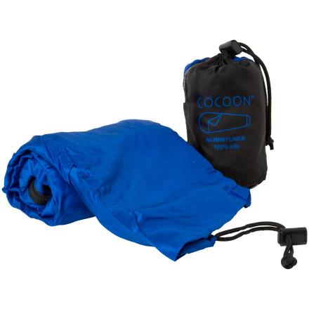 photo: Cocoon Silk MummyLiner Coupler sleeping bag liner