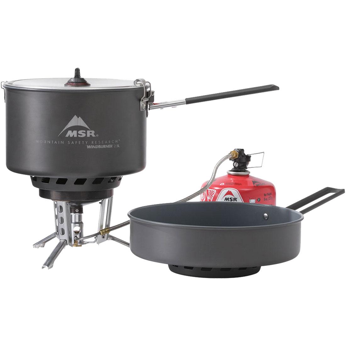 photo: MSR WindBurner Stove System Combo compressed fuel canister stove