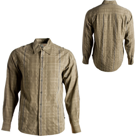 photo: Royal Robbins Asher Plaid Long Sleeve Shirt hiking shirt