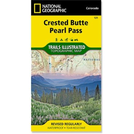 National Geographic Crested Butte Pearl Pass Map
