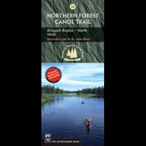 photo: The Mountaineers Books Northern Forest Canoe Trail Map - Allagash Region in North Maine us northeast paper map