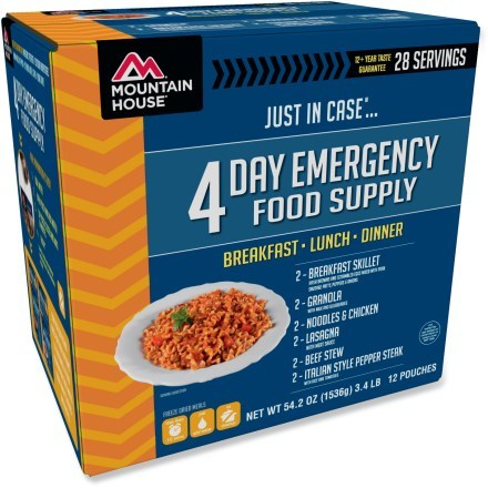 photo: Mountain House Just In Case 4-Day Kit meat entrée