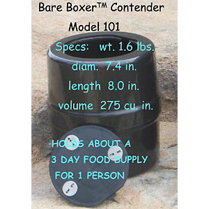 photo of a Bare Boxer bear canister