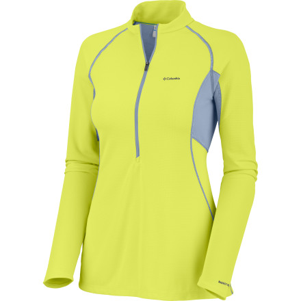 photo: Columbia Women's Bug Shield Sporty 1/2 Zip long sleeve performance top