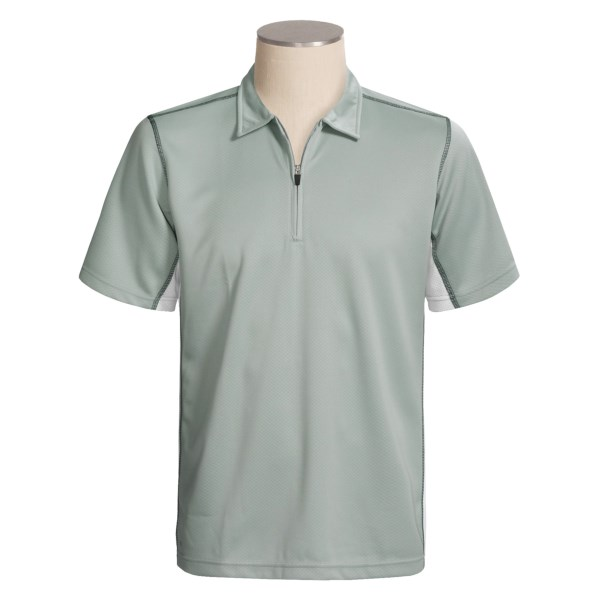 Alo CoolFit Sport Polo Shirt - Zip Neck