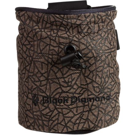 Black Diamond Print Chalk Bag