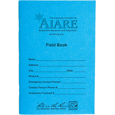 photo: Backcountry Access Avalanche Research Field Book first aid/safety/survival book