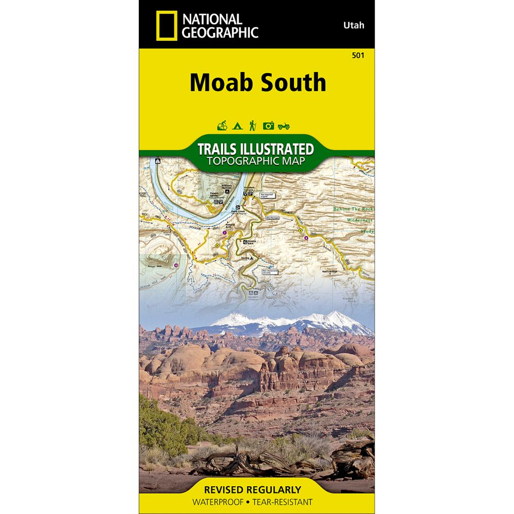 photo: National Geographic Moab South Trail Map  us mountain states paper map