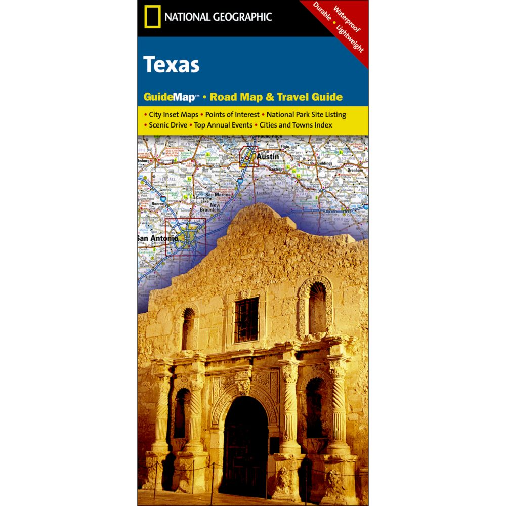 photo: National Geographic Texas Map  us south paper map