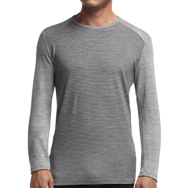 photo: Icebreaker Tech Top Long Sleeve Crewe Stripe base layer top