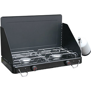 photo: Ozark Trail 2 Burner Propane Stove compressed fuel canister stove