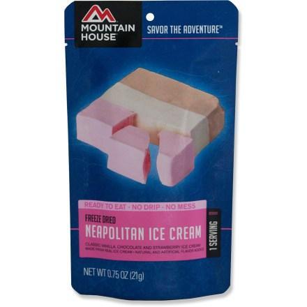 photo: Mountain House Neapolitan Ice Cream Bar dessert