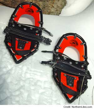photo of a Northern Lites running snowshoe