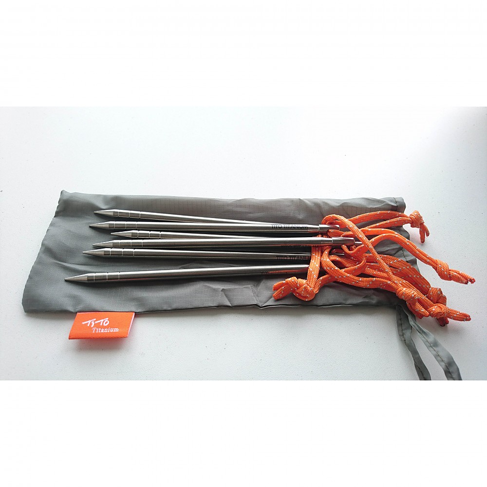 photo: TiTo 6 mm Titanium Tent Pegs stake