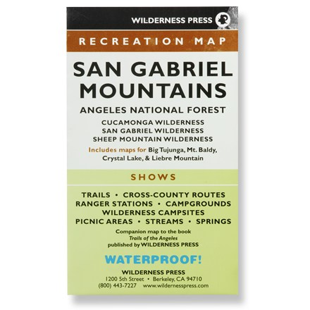 Wilderness Press San Gabriel Mountains Map