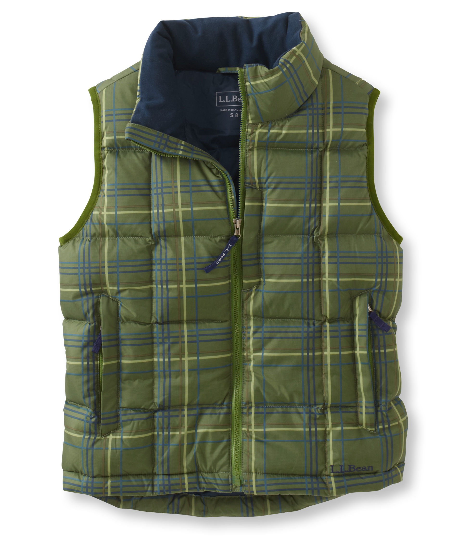 photo: L.L.Bean Boys' Goose Down Vest Print down insulated vest