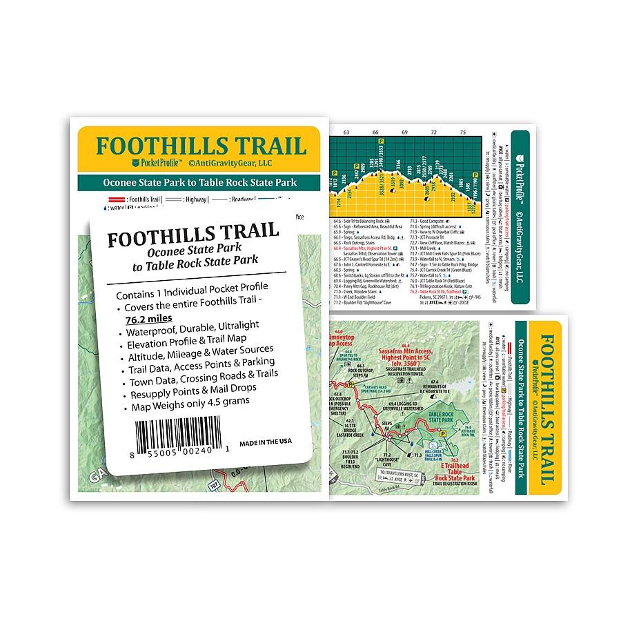 photo: AntiGravityGear Foothills Trail Pocket Profile us south paper map