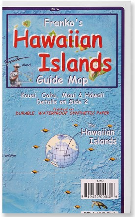 photo: Franko's Maps Franko's Hawaiian Islands Guide Map us pacific states paper map