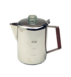 photo: Texsport Stainless Steel Coffee Percolator kettle