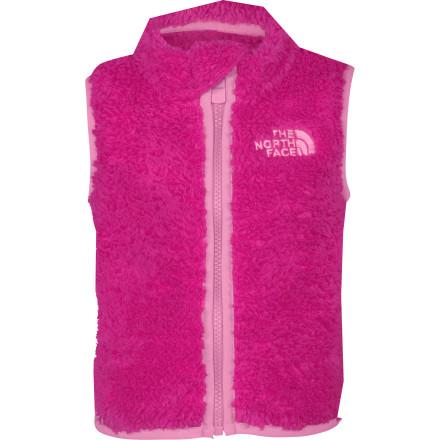 photo: The North Face Girls' Plushee Vest fleece vest