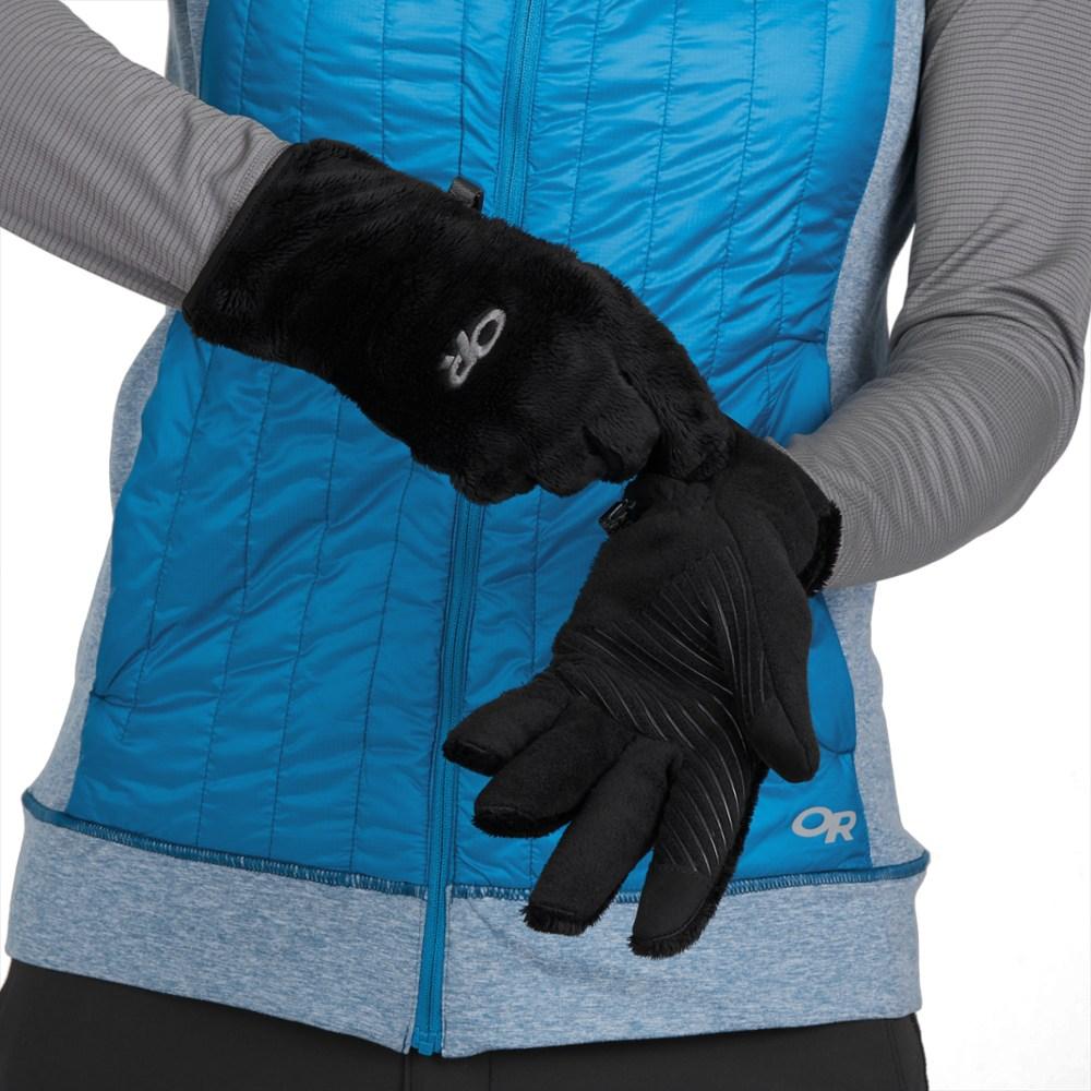 photo: Outdoor Research Fuzzy Sensor Gloves fleece glove/mitten