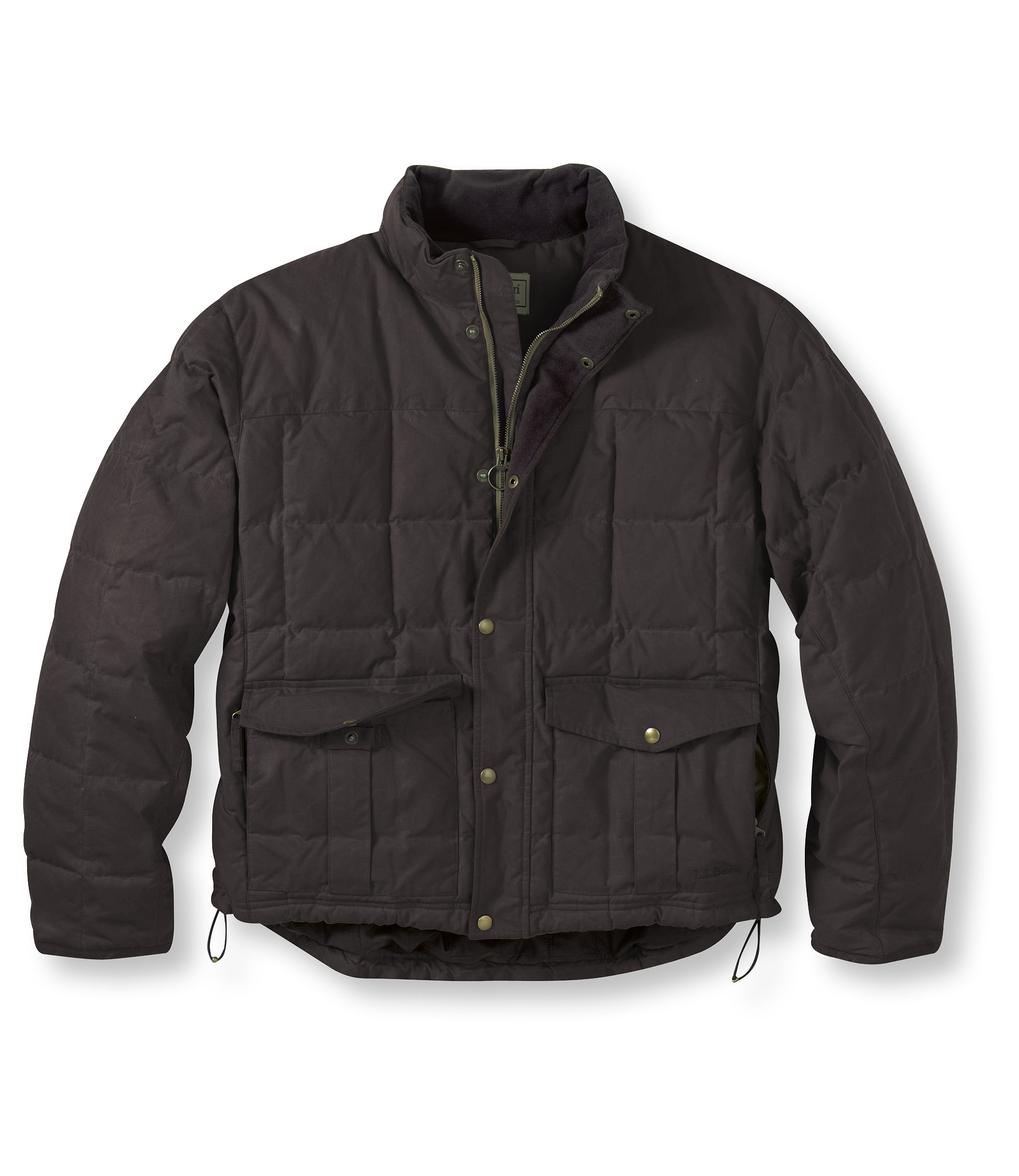 photo: L.L.Bean Waxed Cotton Down Jacket down insulated jacket