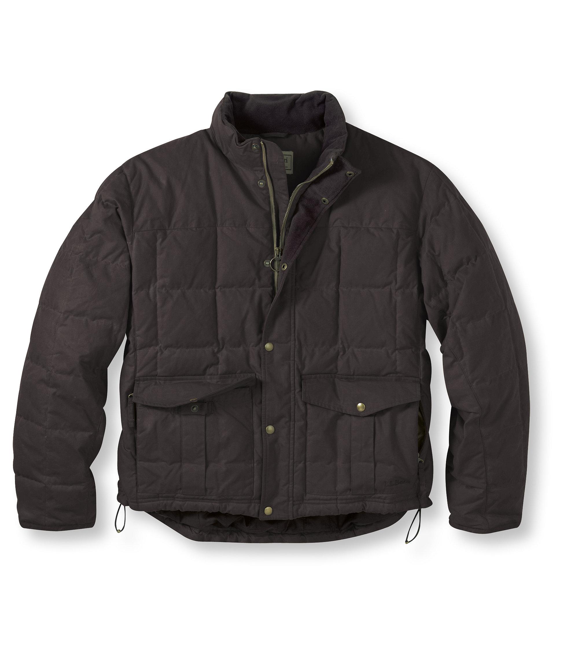 L.L.Bean Waxed Cotton Down Jacket