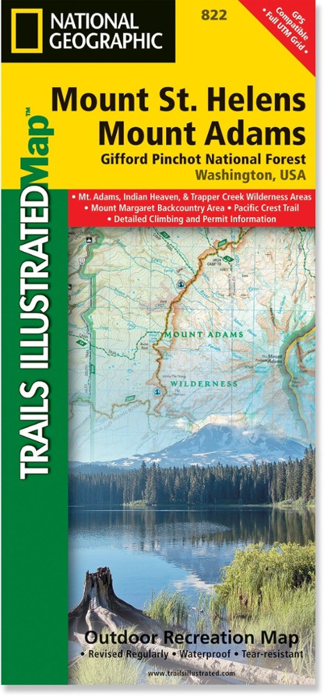 National Geographic Mount St. Helens and Mount Adams Map - Gifford-Pinchot National Forest