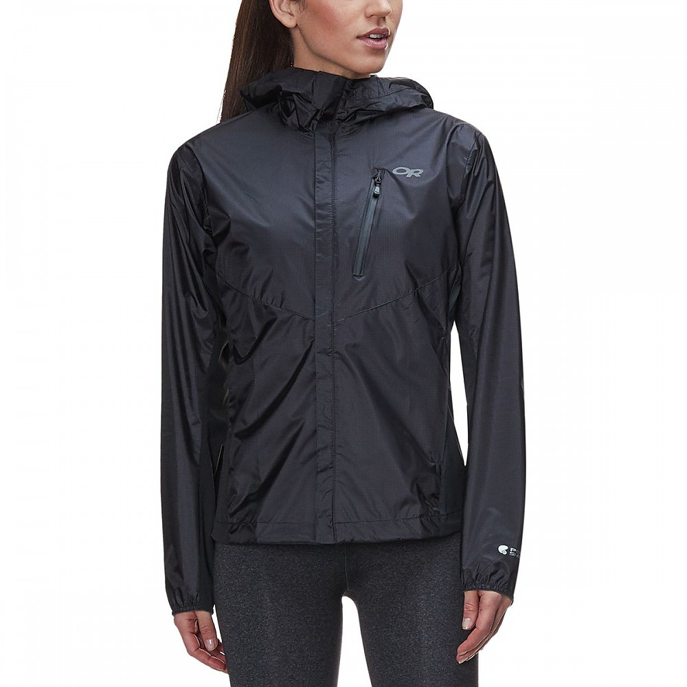 photo: Outdoor Research Women's Helium Hybrid Hooded Jacket waterproof jacket