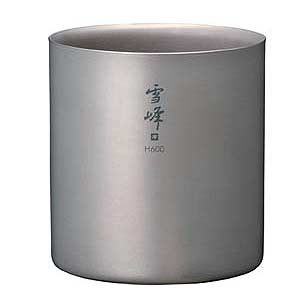 Snow Peak Titanium Stackable Double Wall H600 Cup