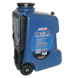 photo: Reliance Hydroller 8 Gallon water storage container