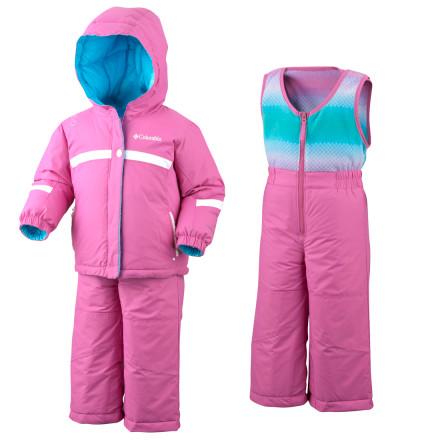 photo: Columbia Snow Brooklyn Reversible Set kids' snowsuit/bunting