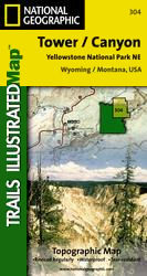 National Geographic Northeast Yellowstone - Tower/Canyon Map